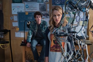 Israel Broussard and Jessica Rothe in Happy Death Day 2U.