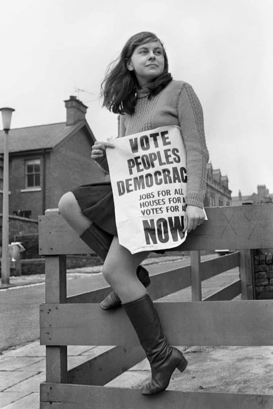 In April 1969 21-year-old Bernadette Devlin became Britain's youngest ever female MP, winning south Derry for the People's Democracy party