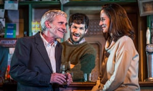 Drinking companions … Sean Murray, Sam O'Mahony and Natalie Radmall-Quirke in The Weir.