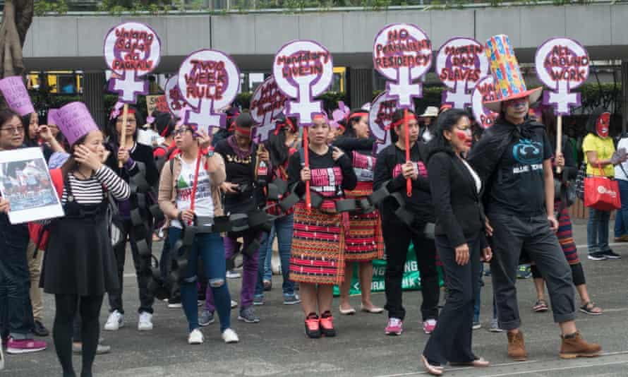 Hong Kong migrant domestic workers protest
