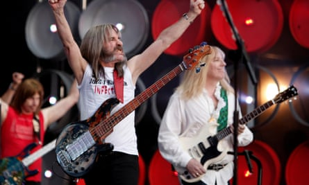 Spinal Tap performing during the Live Earth concert at Wembley Stadium in London in 2007.