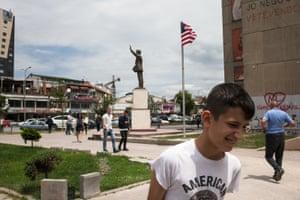 A statue of Bill Clinton in Pristina