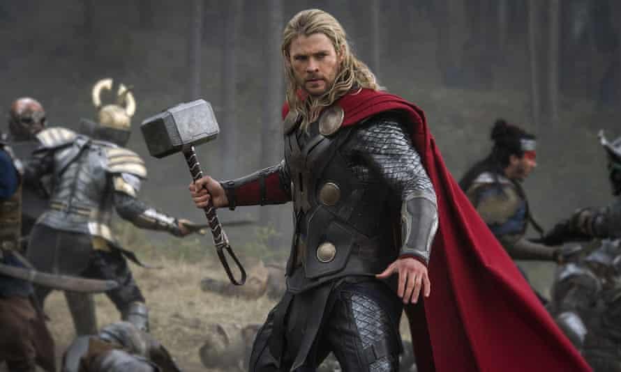 Hammer time ... Chris Hemsworth as Thor.