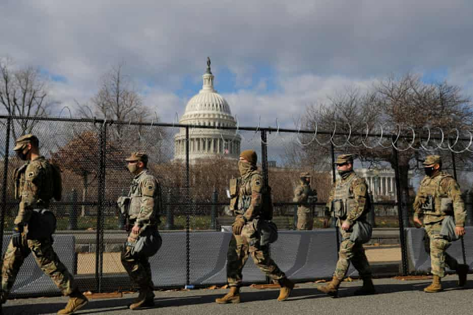'This is not freedom': militarized US Capitol a sign of forever wars coming home