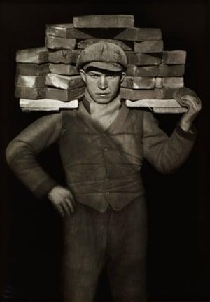 Bricklayer, 1928 by August Sander.