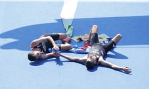 Alistair and Jonny Brownlee finish the men's triathlon in gold and silver position.