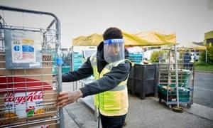 Marcus Rashford at a foodbank
