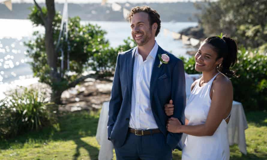 Rafe Spall and Zahra Newman in Australian film Long Story Short.