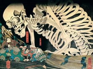 Utagawa Kuniyoshi's skeleton print