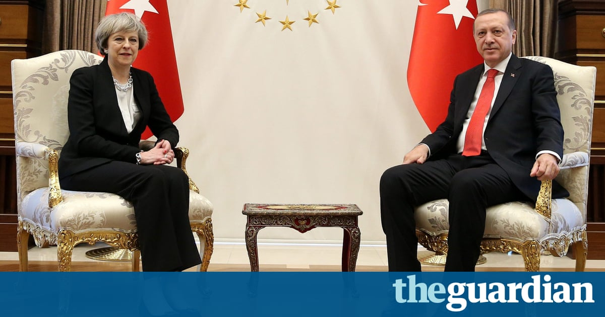 Theresa May signs 100m fighter jet deal with Turkey's Erdoan
