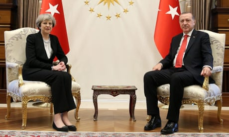 Theresa May signs £100m fighter jet deal with Turkey's Erdoğan