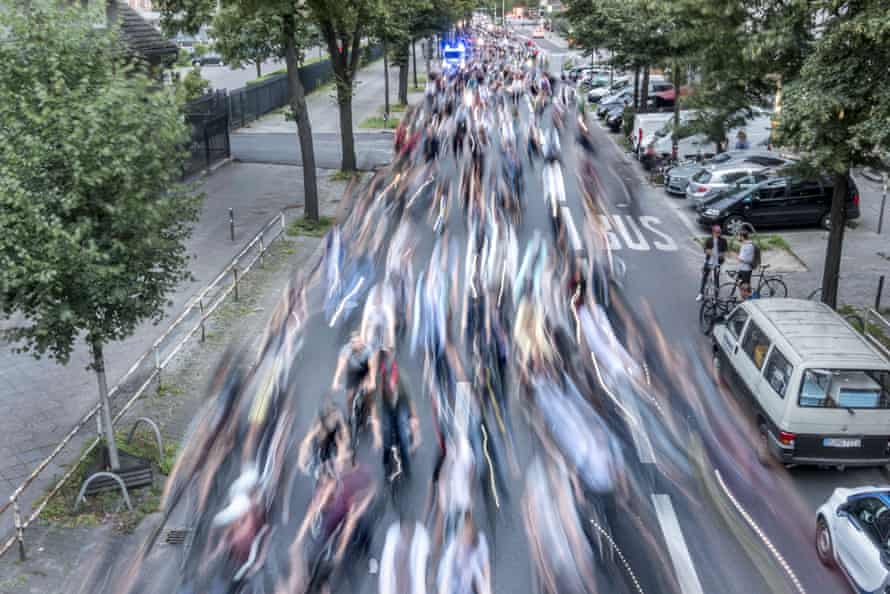 Critical Mass cycling event, Berlin, Germany.