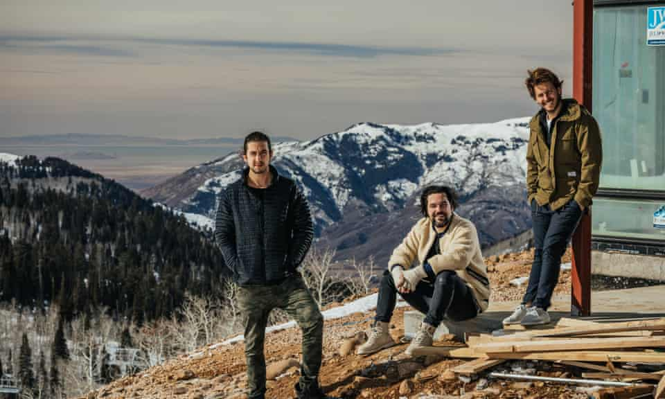 Buy a mountain and they will come: the entrepreneurs behind the venture (from left): Jeff Rosenthal, Brett Leve and Elliot Bisnow.