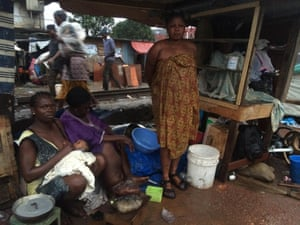 Residents of Badia East, their houses destroyed, have been forced to live in shelters.