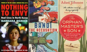 North Korea in World Library : Nothing to Envy: Real Lives in North Korea by Barbara Demick, The Orphan Master's Son by Adam Johnson and The Accusation by Bandi, translated by Deborah Smith.