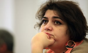 Investigative journalist Khadija Ismayilova, who was sentenced to seven years in prison, in a case widely criticised by human rights organisations.