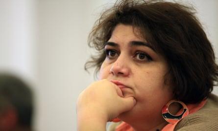 Khadija Ismayilova, taken in Baku in 2014. <br>