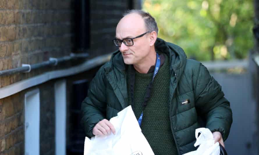 Dominic Cummings leaves his home in London