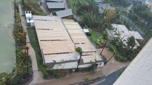 Hamilton Island soon after it was hit by Cyclone Debbie