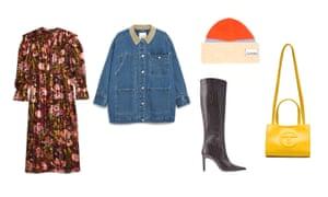 Dress, £49, topshop.com, Jacket, £75, monki.com, etc