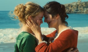 Noémie Merlant and Adèle Haenel in Portrait of a Lady on Fire.