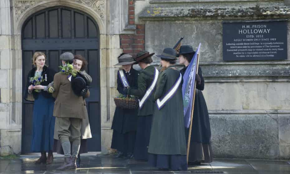 Helena Bonham Carter and Anne-Marie Duff in a scene from the film Suffragette