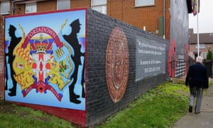 The Loyalist area in Union Street, Portadown.