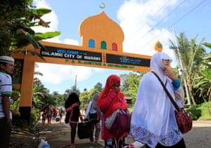 An evacuation centre set up for fleeing civilians