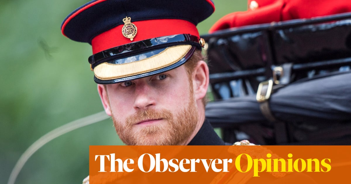 If Prince Harry feels trapped, at least he can escape
