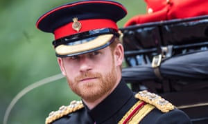 Prince Harry attending the Trooping the Colour.