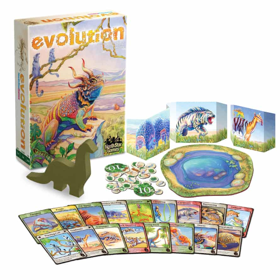 evolution board game out of the box