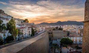 Dalt Vila and Almudaina castle in Ibiza old town.