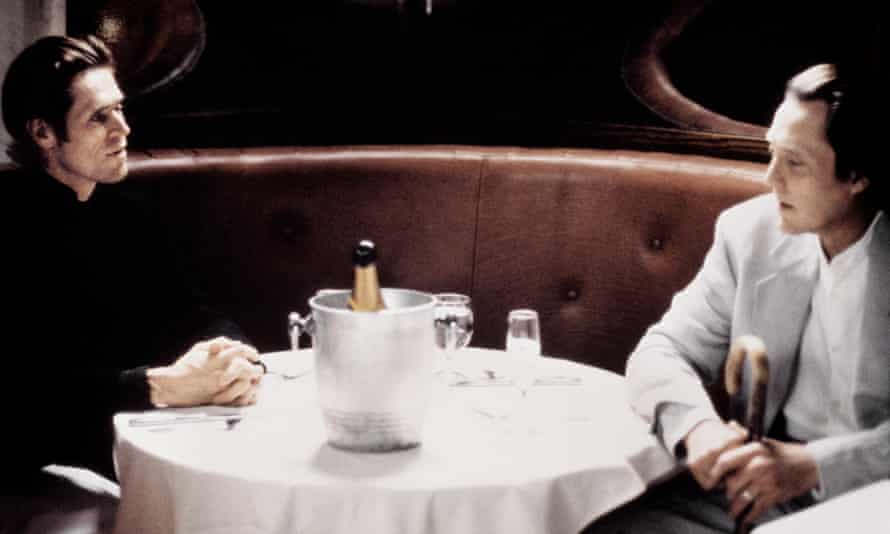 Willem Dafoe and Christopher Walken in New Rose Hotel