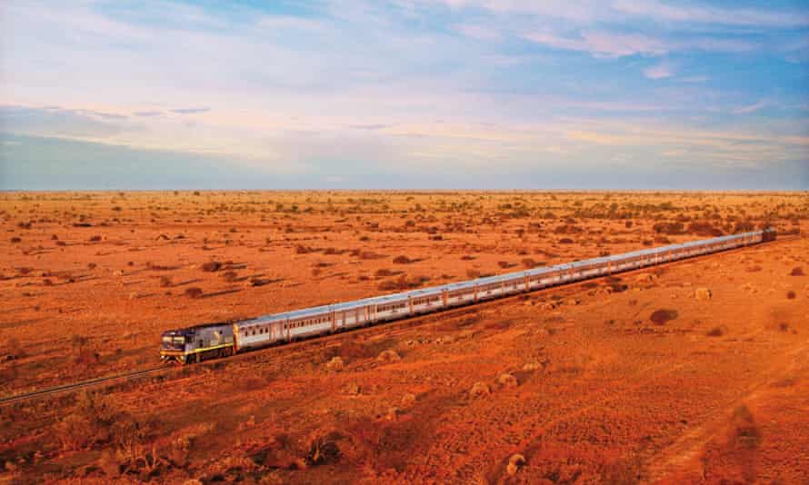 Indian Pacific train journey across Australia.