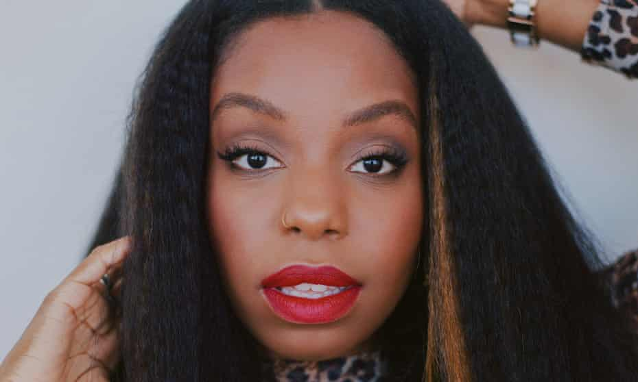 Close-up of London Hughes's face