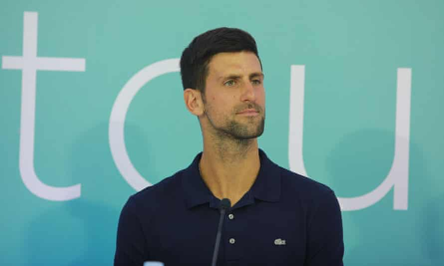 Novak Djokovic is quarantining for two weeks after the world No 1 tested positive for Covid-19.