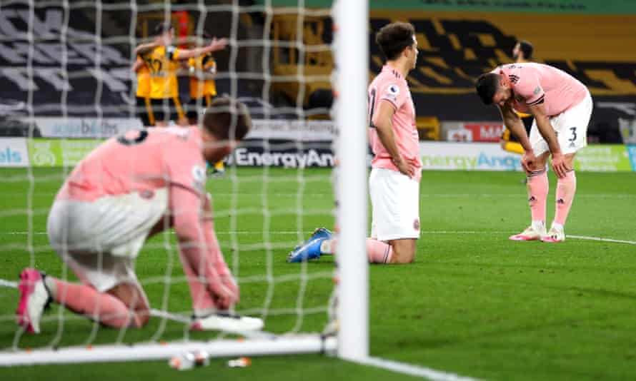Dejection for Sheffield United players