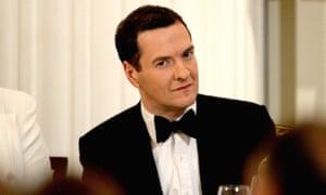 George Osborne at a black-tie dinner.