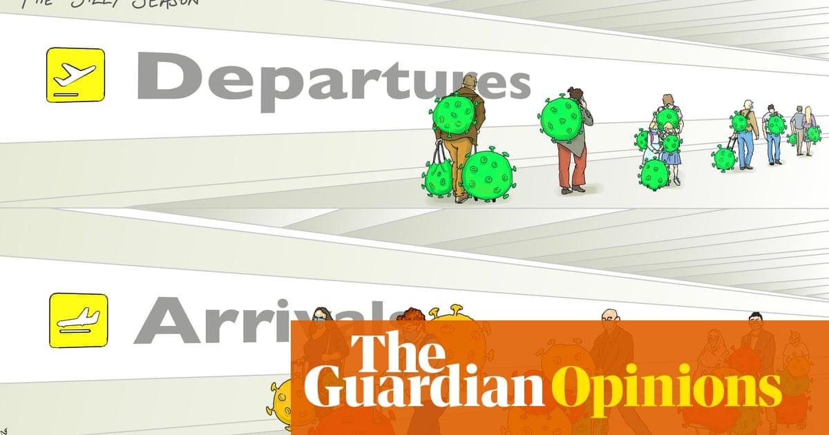Nicola Jennings on fears of travellers to the UK having Covid variants – cartoon
