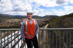 Malcolm Turnbull on a tour of Tumut 3 power station at the Snowy Hydro Scheme in March.
