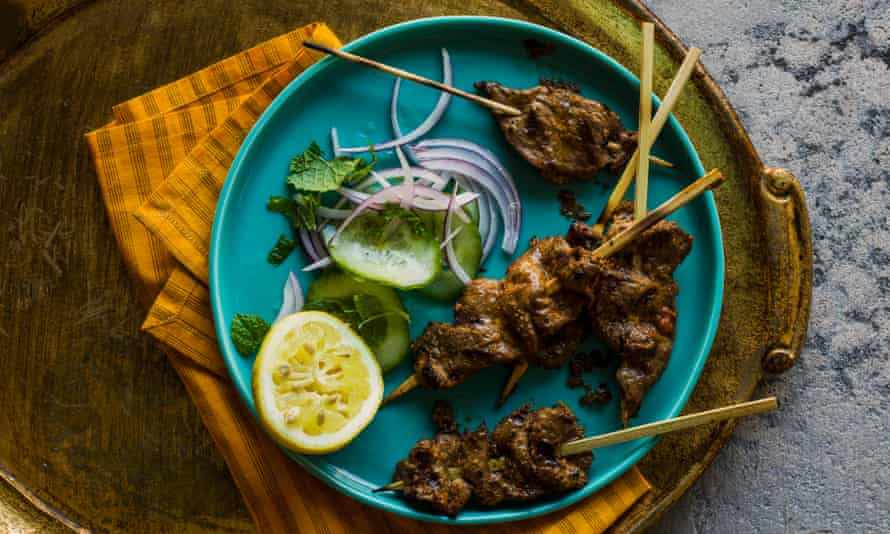 Hyderabadi mutton or lamb kebab – pathar ka gosht