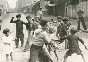 Children playing in the Zone, c 1940