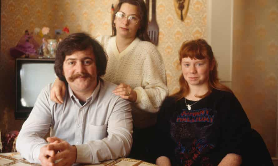 Bernard Laroche with his wife Marie-Ange Laroche (standing) and his sister-in-law Murielle Bolle.