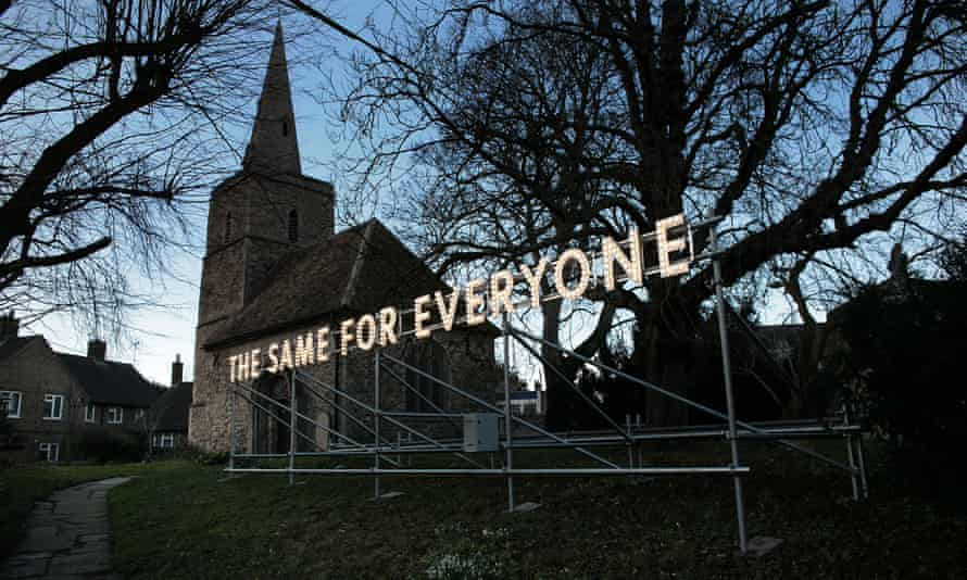 That's life … The Same For Everyone by Nathan Coley.