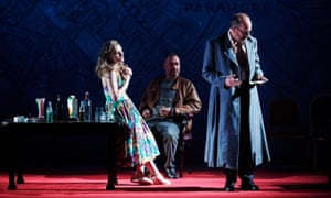 'He understood our struggles' … Nichola MacEvilly, Brian Doherty and Frank McCusker in Murphy's The Wake, at Dublin's Abbey theatre in 2016.