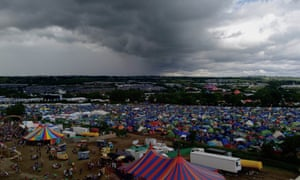 The view from the Park Tower, Glastonbury 2016