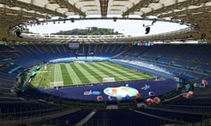The Stadio Olimpico in Rome readies itself for the opening game.