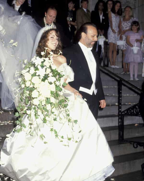 Carey and Tommy Mottola's wedding, in 1993.
