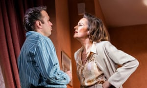 Midlife disillusionment … Nicholas Burns (Kenneth) and Rachel Stirling (Sandra) in Love Love Love.