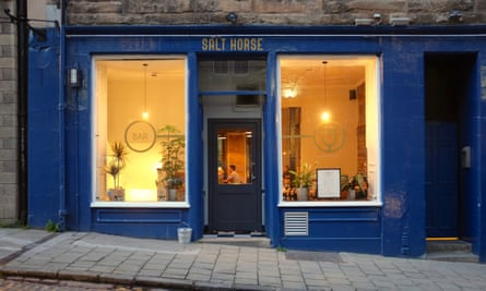 Exterior with lighted windows, Salt Horse Edinburgh